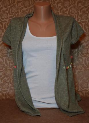 Кофточка-накидка с коротким рукавом