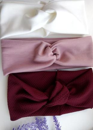 Комплект из 3 шт повязки солоха чалма узелок ободок для волос аксессуары для волос