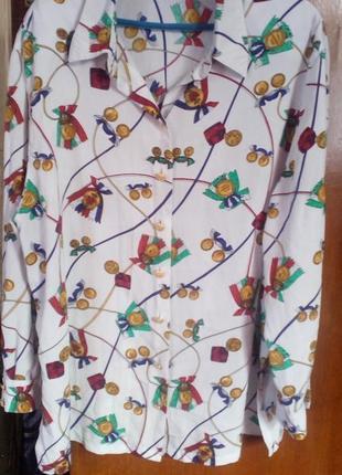 Basler винтажная блуза-рубашка в принт.