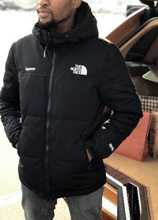 Куртка мужская supreme x the north face ‼️зима‼️котон с пропиткой!