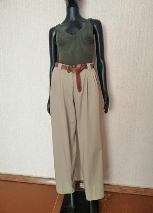 Винтажные брюки с защипами