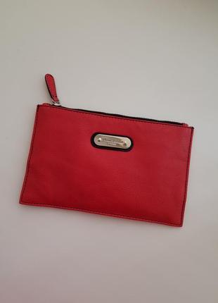 Кожаный кошелек косметичка sienna de luca italy