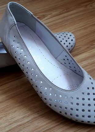 Туфли балетки ara р.38 натуральная кожа