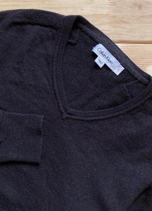 Приятный шерстяной свитер, пуловер calvin klein