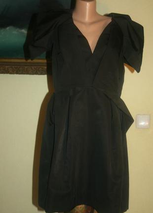 Стильное черное экстравагантное платье-трансформер очень сложного кроя