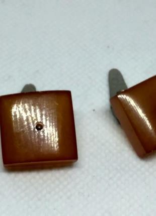 Винтажные запонки янтарь