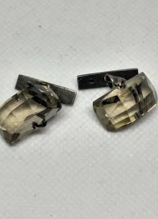 Запонки серебро 875