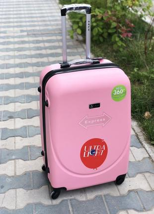 Оригинал! польский чемодан пластиковый средний чемодан / валіза середня пластикова
