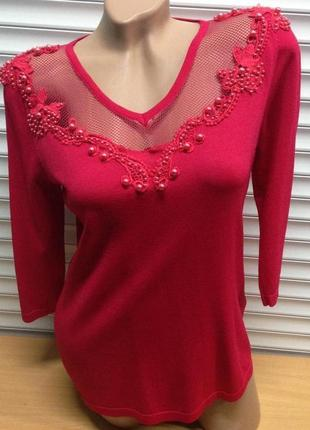 Шикарный,яркий, нарядный свитерок, кофта, блуза ,свитшот , bluoltre , италия