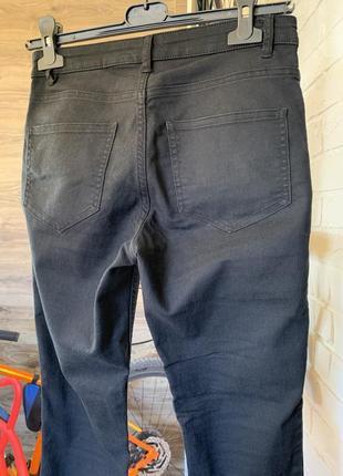 Джинсы брючки штаны чёрные прямые