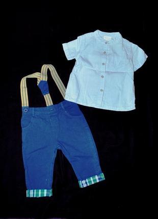 Комплект «стиляга!» лот костюм для новорожденного 3-6 мес штаны