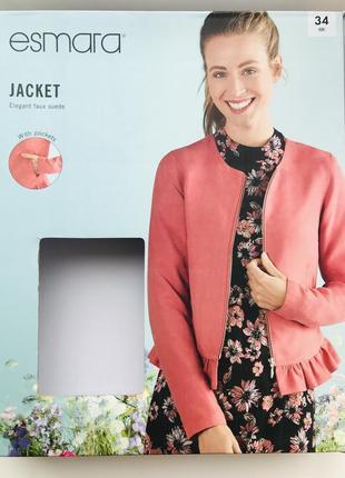 Красивый женский замшевый жакет-куртка esmara евро 34