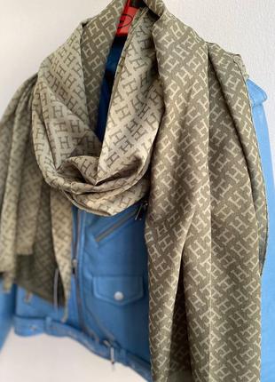 Шикарный шарф палантин шаль в стиле hermes