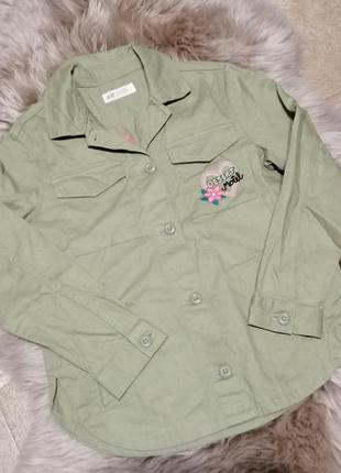 Стильный пиджак с вышивкой h&m на 9-10 лет