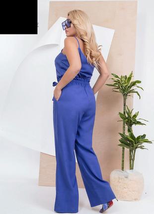 Костюм женский майка+брюки лен размеры: 46-562 фото