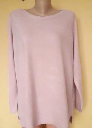 Теплая розовая кофта,свитер