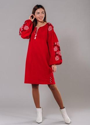 Вишиванка плаття льон  46007