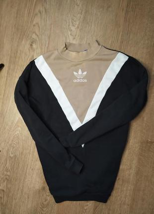 Шикарный свитшот толстовка adidas три полосы с лампасами распродажа