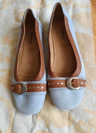 Кожаные туфли/балетки gabor