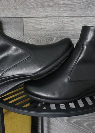 Женские демисезонные ботинки ecco оригинал натур. кожа 38 размер