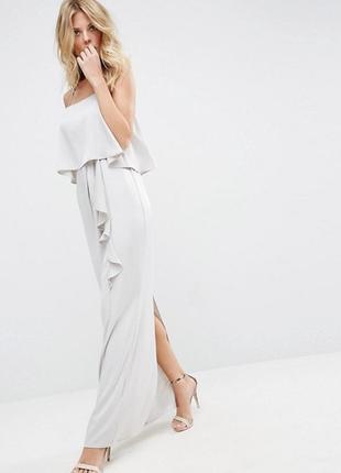 🔥 total sale 🔥роскошное шифоновое платье в пол макси asos a1122
