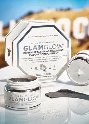 Очищающая маска glam glow supermud