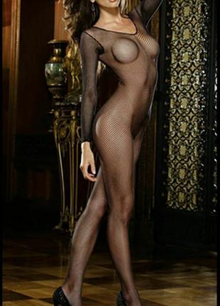 Эротический сексуальный комбинезон боди сетка арт. 597