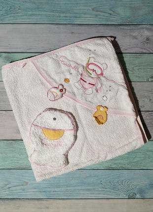 ♠️ махровое полотенце-уголок + мочалочка caramell - размер 70х70 см ♠️