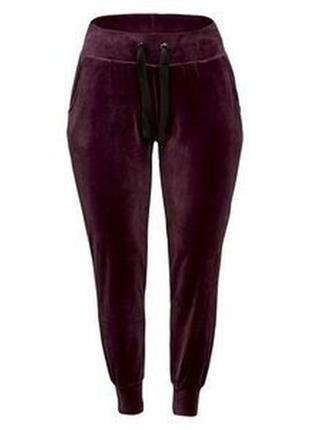 Женские бархатные велюровые штаны, джоггеры, брюки, германия { евро 48-50, 56-58}