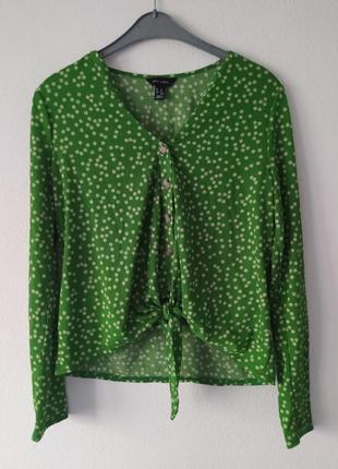 Зеленая блузка   new look в цветочек