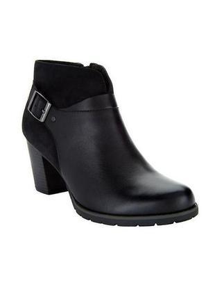 Идеальные черные базовые ботильйоны ботинки на осень демисезон натуральные кожаные