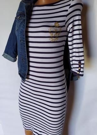 Стильный весенний лук ( трикотажное платье+ джинсовый пиджак)3 фото