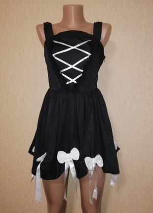 Карнавальное короткое платье, туника, платье на хеллоуин, halloween body line