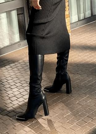 Сапожки alexander wang на высоком каблуке