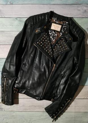♠️ крутая утепленная куртка косуха с заклепками ♠️