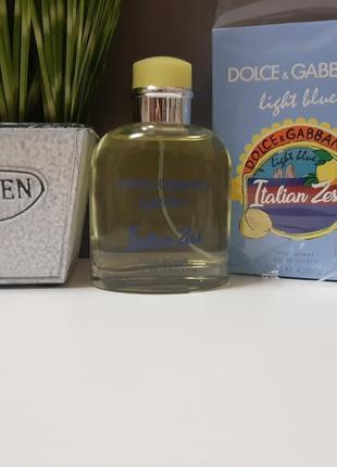 🍋оригинал🍊 125 мл мужские dolce gabbana light blue pour homme italian zest свежий цитрус