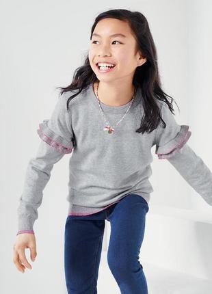 Яркий и нежный свитер детский с оборочками от тсм tchibo (чибо), германия,128-134 см