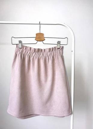 Замшевая юбка 🔥 bershka спідниця