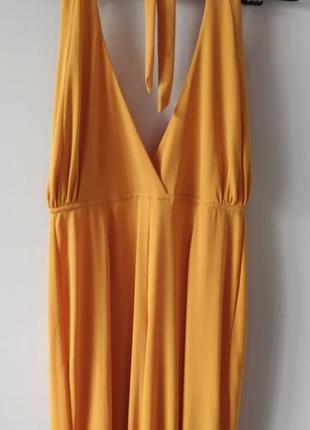 🔥🔥🔥стильний жовтий комбінезон з широкими штанами(палаццо)