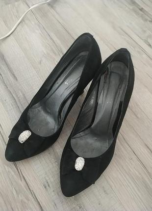 Замшевые туфли lady unica