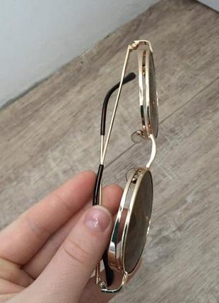 Имиджевые очки овальной формы коричневого цвета   возможен торг