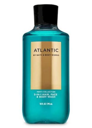3-в-1 гель для душа bath & body works men's collection atlantic hair, face & body wash