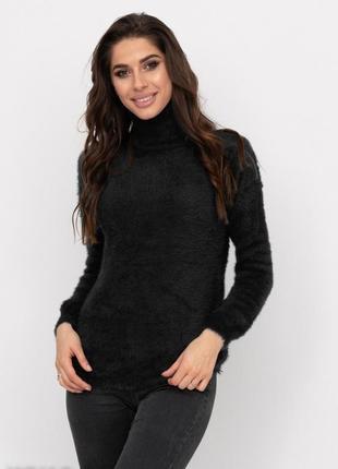 Черный свитер джемпер травка