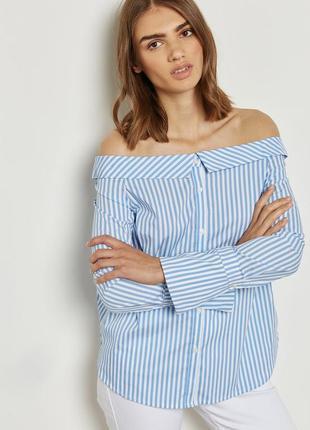 Легкая блуза в тонкую полоску new look