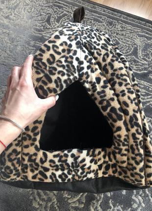 Леопардовый домик, дом  для котика, или маленькой собачки