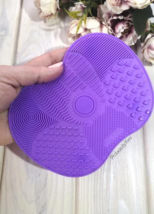 -30% коврик мат для мытья кистей для макияжа силиконовый на присосках purple probeauty