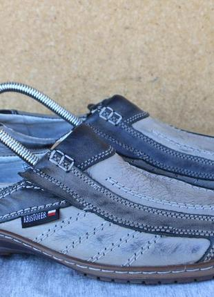 Мокасины kristofer кожа польша 41р туфли лоферы