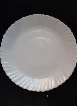 Набор белых тарелок,6шт,d 25см