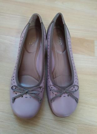 37,5 37р. hotter кожаные удобные туфли