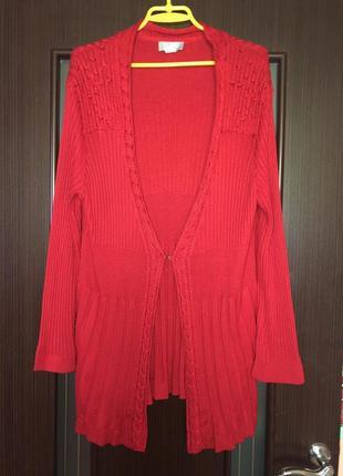 Красный  свитер / кардиган 52/54 рр